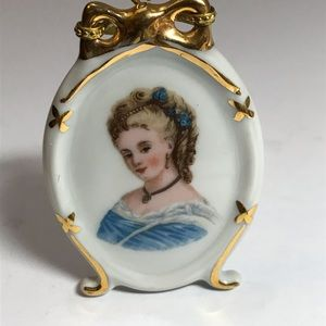 Antique LIMOGES France Hand Painted Plate